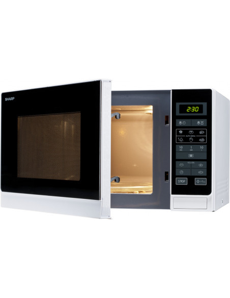 SHARP img-p-microwave-r-342-w-angled-view-active-display-interior-light-open-960.jpg